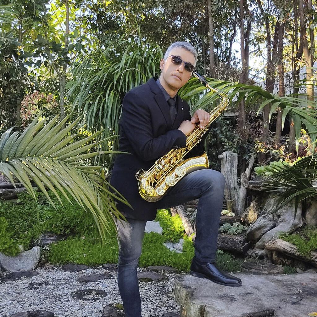 Saxofonista en Medellín